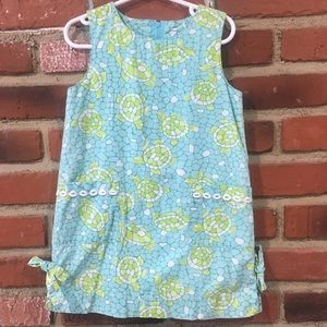 Lilly Pulitzer Green and Blue Dress sz 4 Girls
